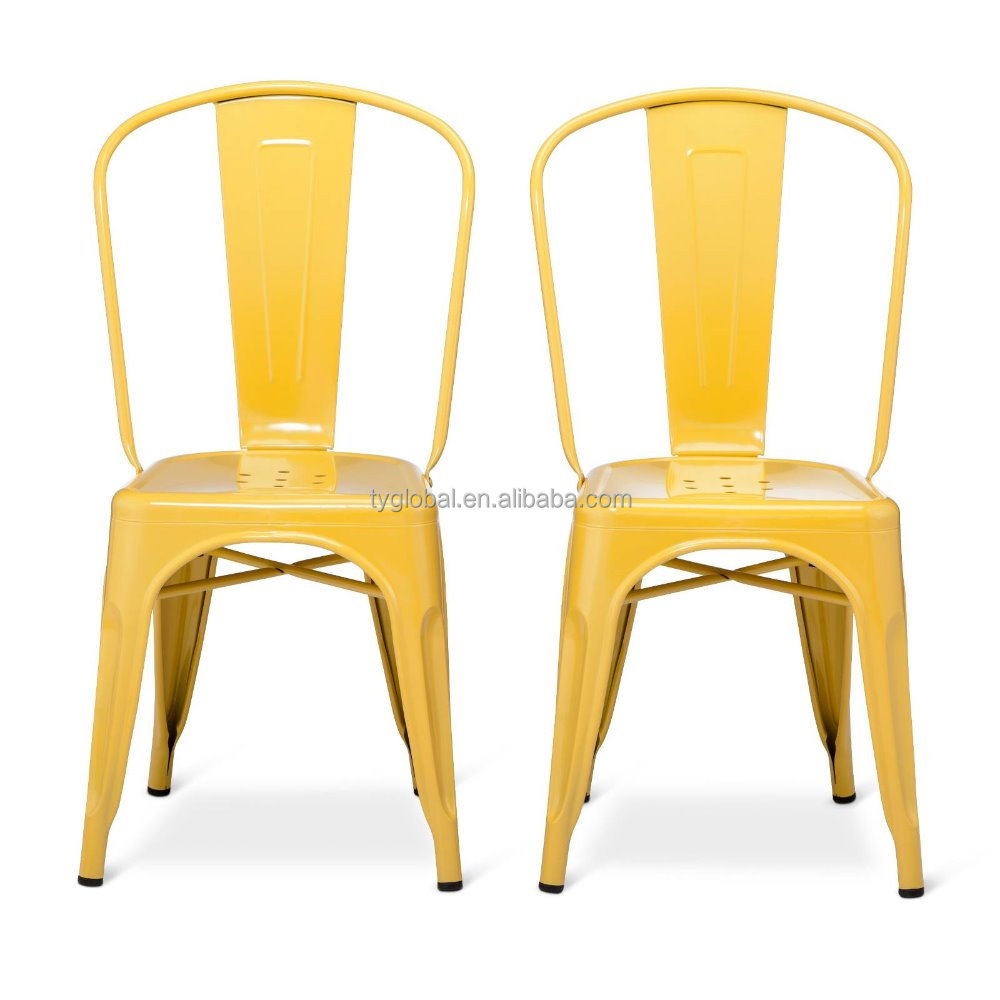 TY Furniture Yellow Metal Frame Chair Indoor-Outdoor Stackable Chair TY-BS240