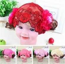 Flower Girls Lace Headbands Girls Dress Matching Headwrap F445