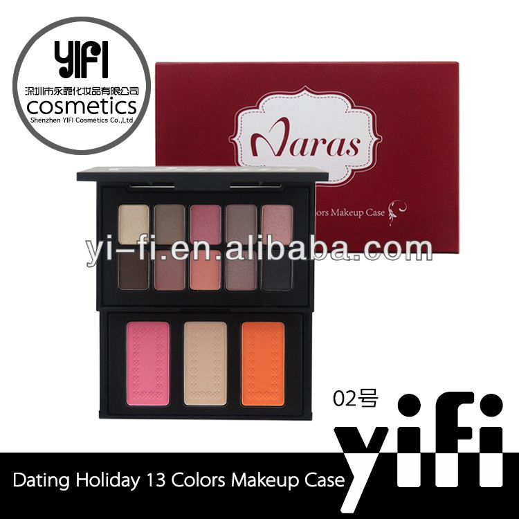 Best seller cosmetics manufactor Naras 13colors dating holiday series branded eyeshadow palette naras