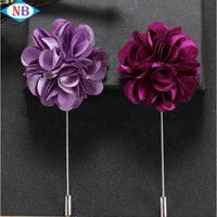 In stock low price brooch lapel pin mens flower lapel pin for dress