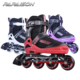 Newest Yeezy style MOQ 1 knitting material 4 rubber PU flashing wheels inline roller skates shoes