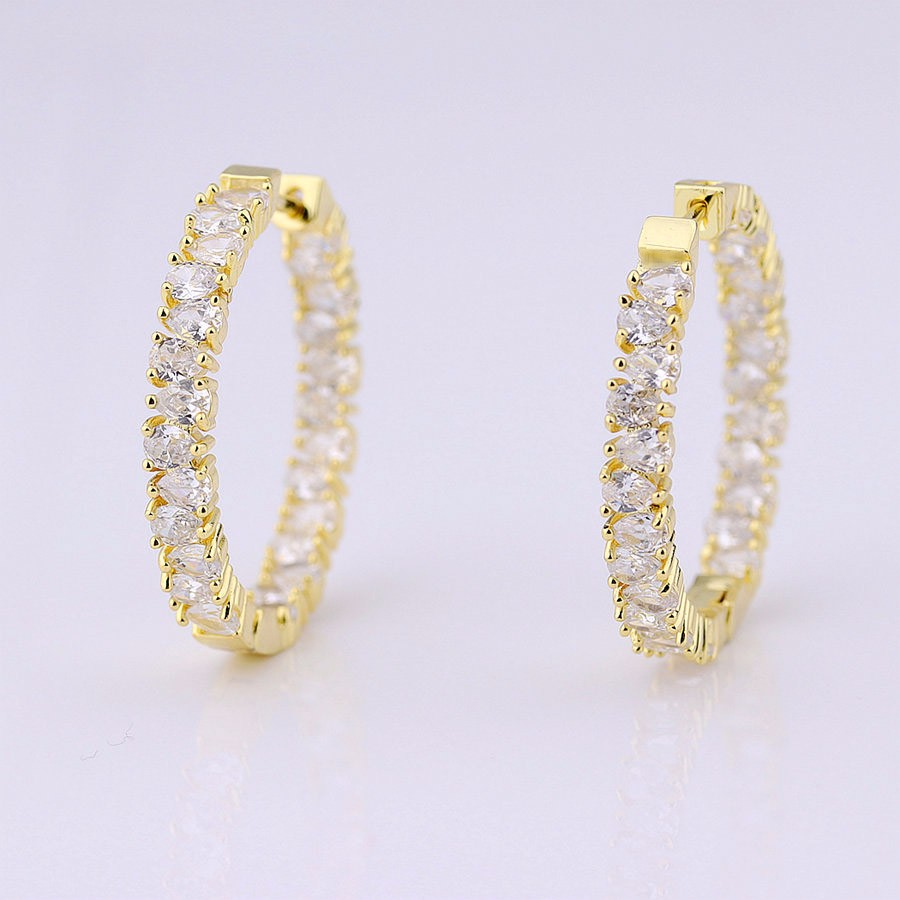 luxury luxury Hoop ring Type finding jewelry earrings
