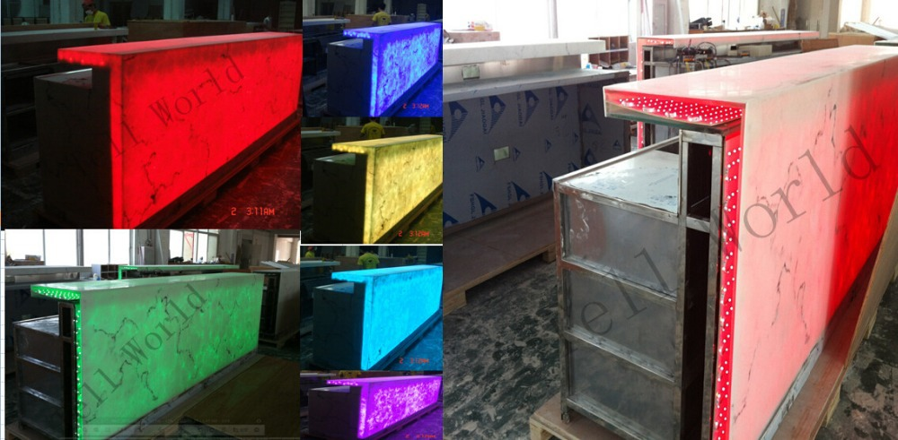 Translucent Acrylic Marble Rgb Led Light Modern Led Bar