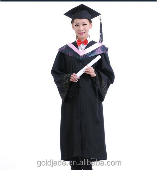2015 new wholesale graduation gown for bachelor,pictures of graduation gown,graduation gown for graduation