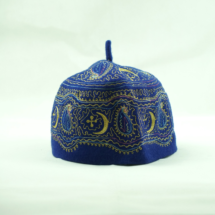 China Manufactory Omani Embroidery felt Muslim Cap
