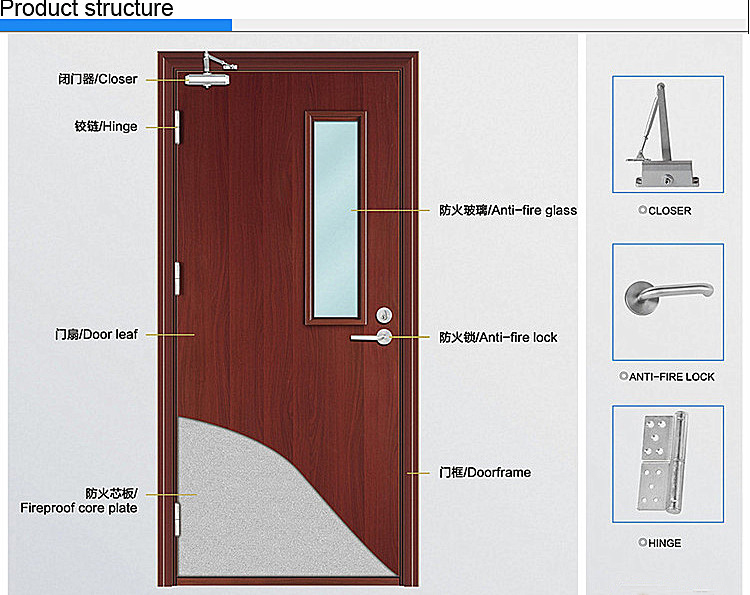 Jk Fw9102 Safety Door Design With Grill Wood Door Design