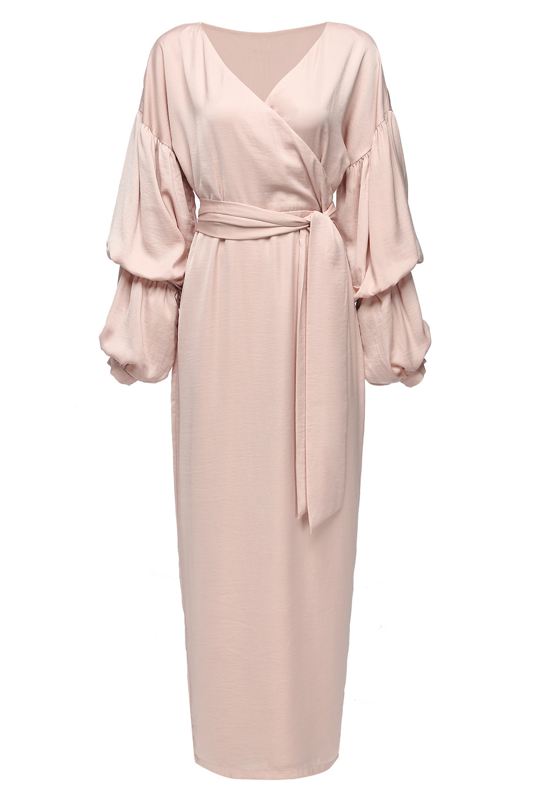2018 wholesale Abaya muslim dresses  Pink with belt