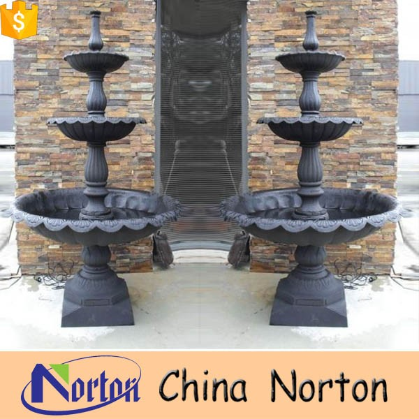 Garden Supplies 3 Tierd Outdoor Cast Iron Water Fountain