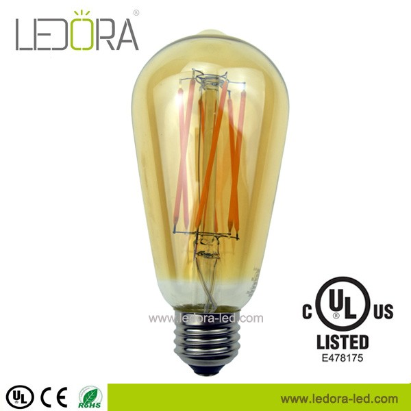 Energy star UL vintage led light bulb ST64 Edison style antique bulb with dimmable led bulb 4W 6W 8W 110v 230v