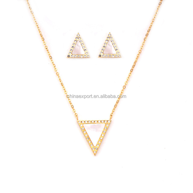 Chic shell triangle costume jewelry stainless steel necklace and earrings sets for women  sc 1 st  Alibaba & costume shell jewelry-Source quality costume shell jewelry from ...