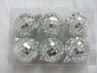 Decorative christmas Mirror Balls/ Disco lights Mirror Ball xmas tree ornaments