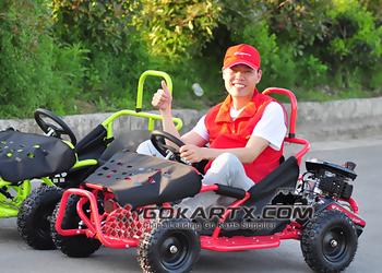 80cc 4 Stroke Gas Powered Kids Go KartCocokart Adults Racing Kart For