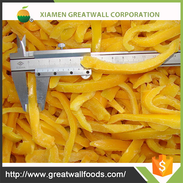 HACCP diced yellow pepper
