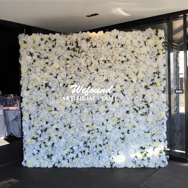 2016 Wefound New Design Wedding Arrangement Artificial Flowers Backdrop Rose Flower Wall