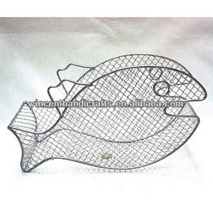 Cheap fish shape wire mesh festival gift basket