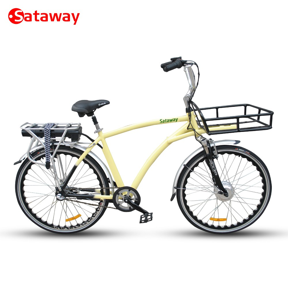 Sataway high quality lithium-ion battery electric cargo bike with front basket 36V