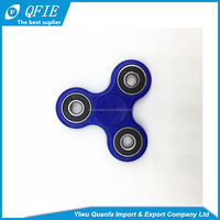 2017 hot new products plastic cheap tri fidget spinner toy with stainless bearings