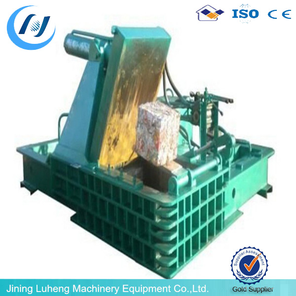 Horizontal hydraulic baler scrap metal baling machine