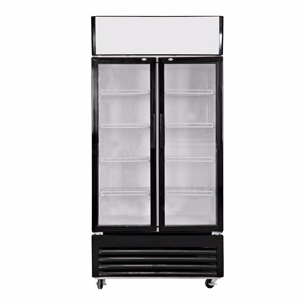 Double Glass Doors Display Freezer Pepsi Fridge Buy High
