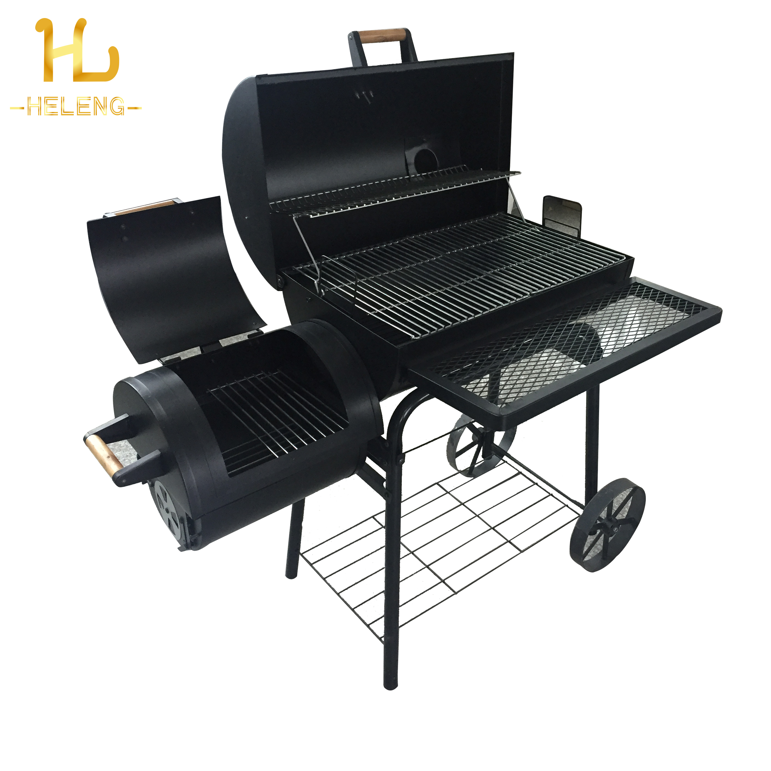 2019 Outdoor Heavy duty Commerciale Trolley Portatile Barile Offest Carbone di Legna BARBECUE Grill Fumatore