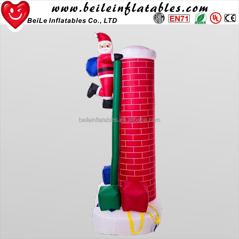 Outdoor Inflatable Christmas Santa In Chimney, Outdoor Inflatable ...