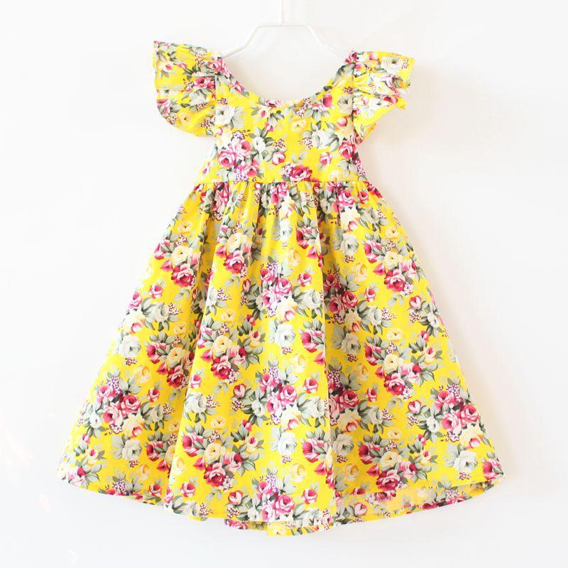 Latest Design Baby Floral Frock Design Cute Toddlers Broklen Flower ...