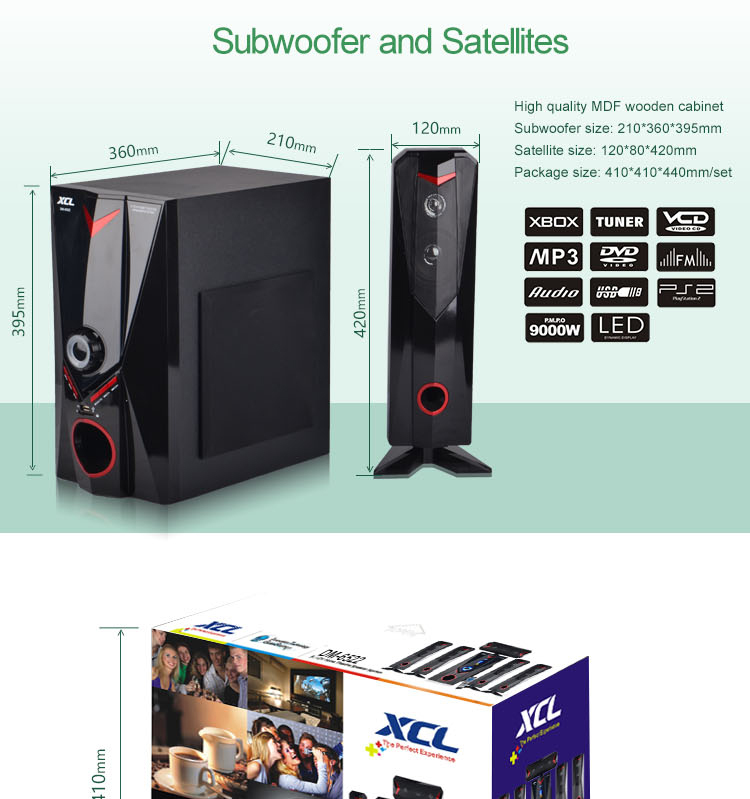 22 years' anniversary promotional high performance 5.1 stereo sound system