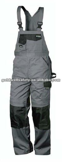 Twill cotton/polyester bib overalls workwear cargo pants