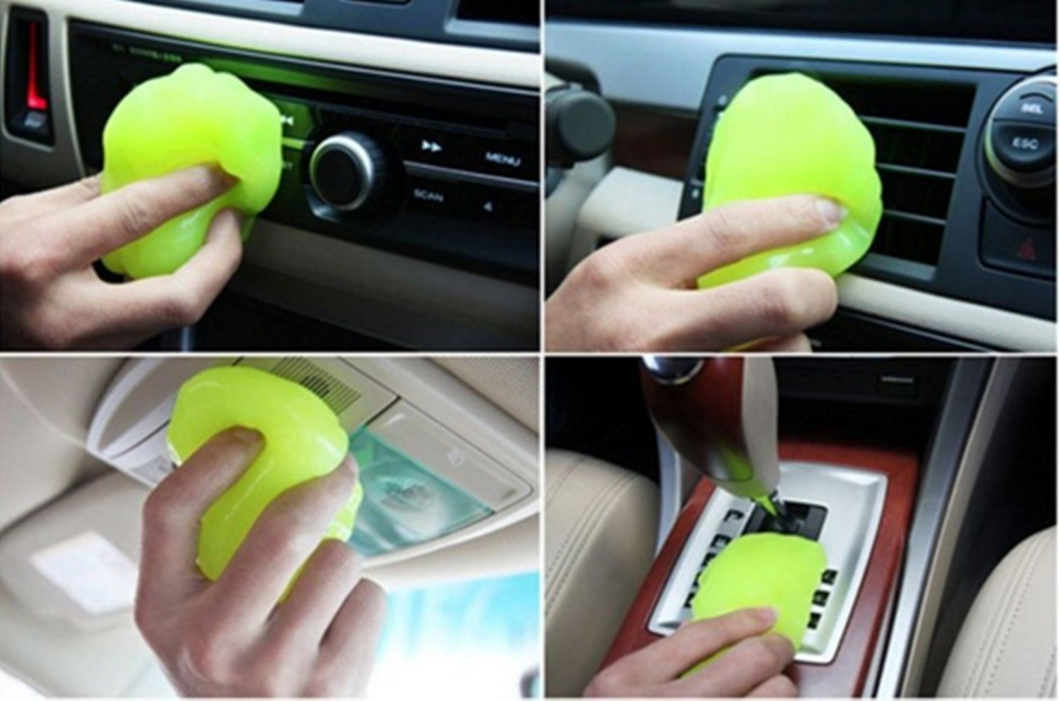 Car Cleaning Sponge Products Auto Universal Cyber Super Clean Glue Microfiber Dust Tools Mud Gel Products Car Accessories