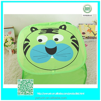 green tiger easy fold up houses kid's toy laundry storage /cheap laundry bag