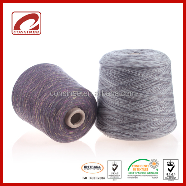 NM2/50 blended fancy space dye yarn with 60%Wool 40%Polyamide
