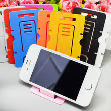 Portable Card Foldable Phone Stand Holder And Earstud Winding Device Tools for iPhone4 5 6 plus HTC  Talet Ffreeshipping