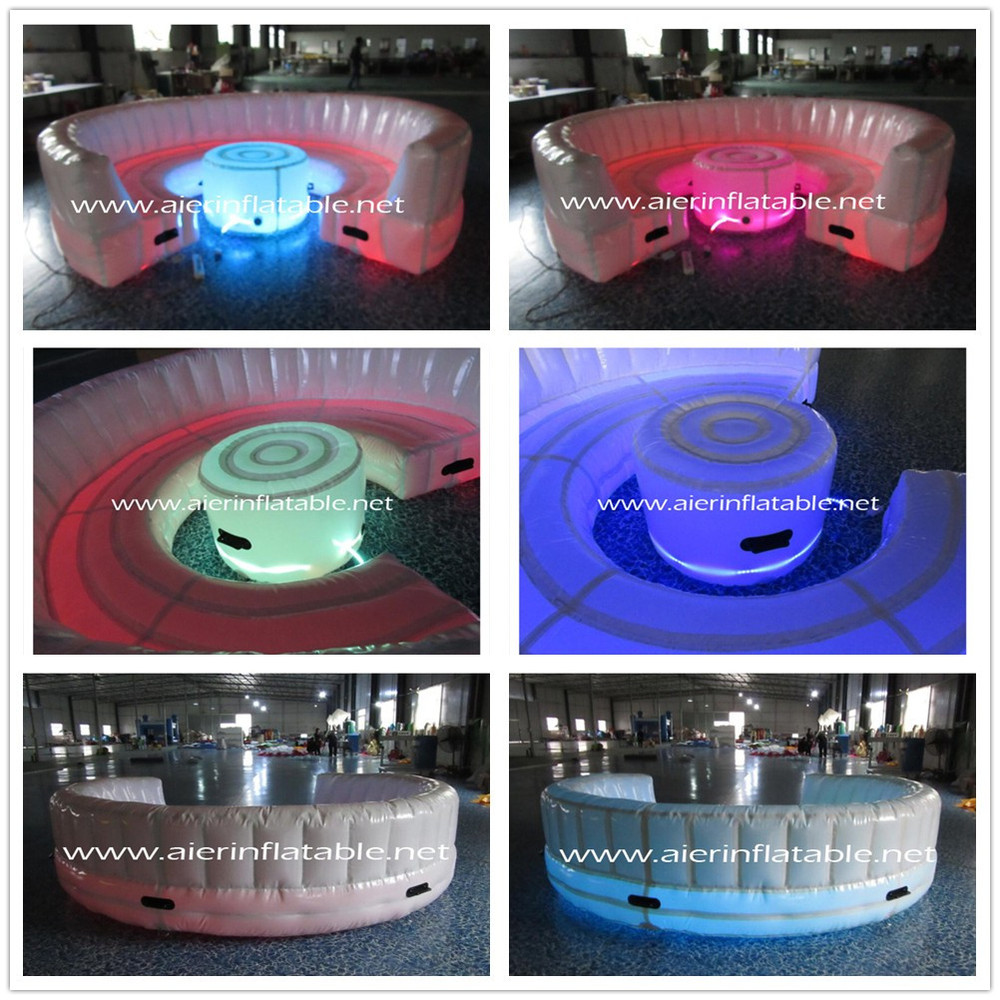 Inflatable Round Sofa With Led Light,Colorful Led Light Inflatable ...