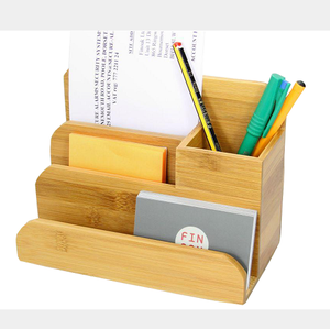 Space Saving Bamboo Desk Organizer Storage Box