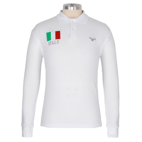 Embroidering Number WHITE PRETTY LONG SLEEVES lifeline polo shirt