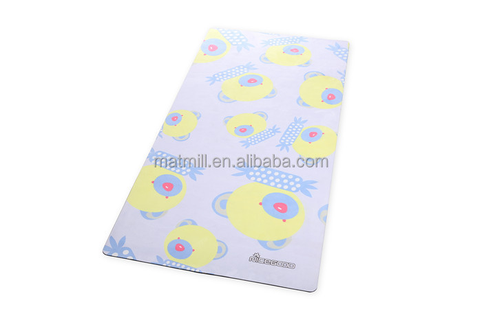 High quality heat transfer printing children size organic rubber yoga mat