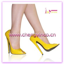 China hot venda por atacado alibaba ladies sexy plus size de salto alto stiletto amarelo sapatos de salto alto para as mulheres