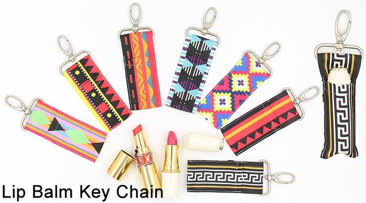 High Quality Clip-On Neoprene Chapstick Sleeve Chapstick Lipstick Holder