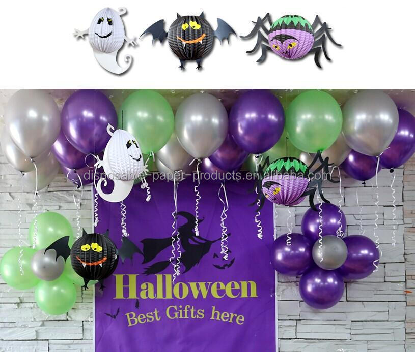 Halloween party supplies decorations 12incn black white for Balloon decoration in pune