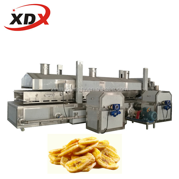 Continuous french fries frying machine price