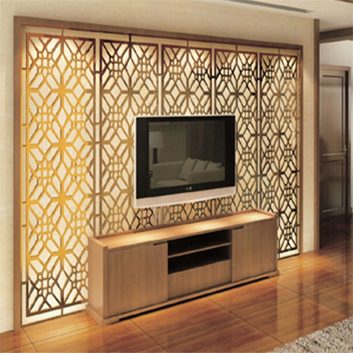Modern design high quality metal decorative room screen tv - Separation decorative entre 2 pieces ...