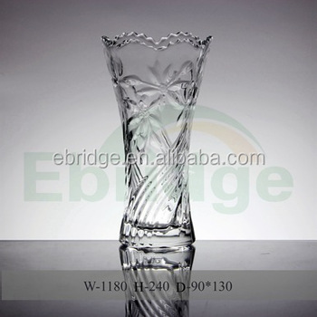 Crystal Exquisite Engraved Heavy Glass Vase Buy Clear Glass Vase