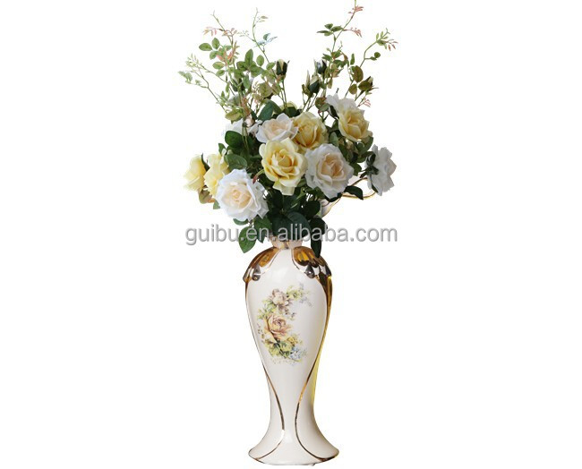 Hot Sale!Beautiful Hand Painted Ceramic Flower Vase for Wedding and Home Decoration GBD-2208A