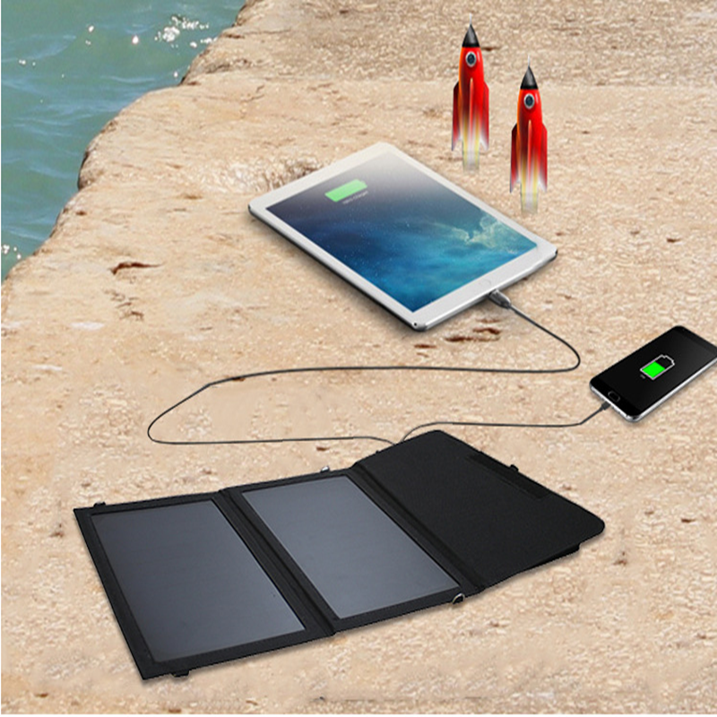 high efficient sunpower 10W solar panel 5600mA portable charger for smartphones and tablets