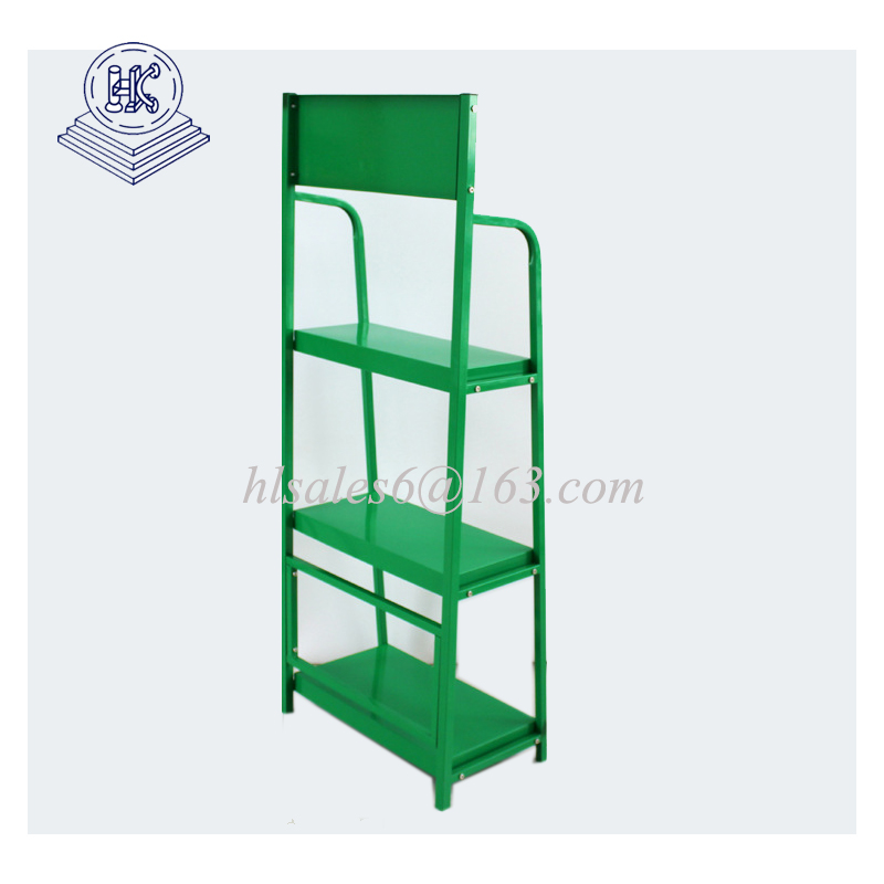 Customized Size metal display rack for engine oil