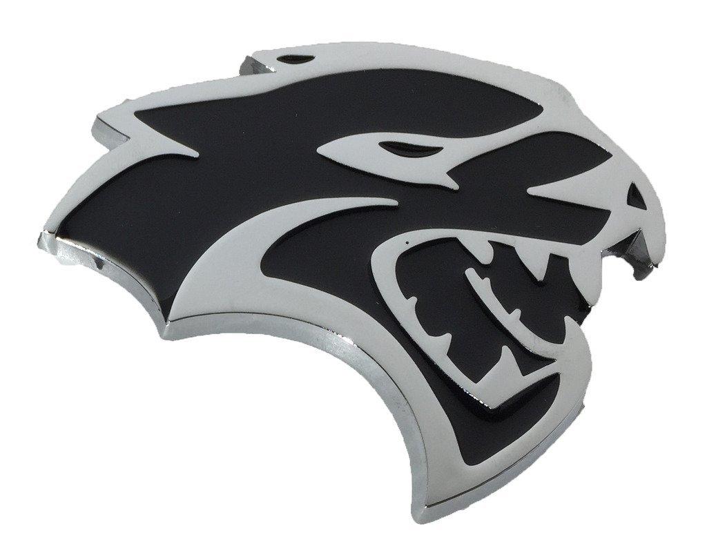 RH Side Hellcat Emblem (Larger Version) Replaces OEM for Dodge Mopar 68269896AA / 68269897AA SRT SRT8 for Right Fender