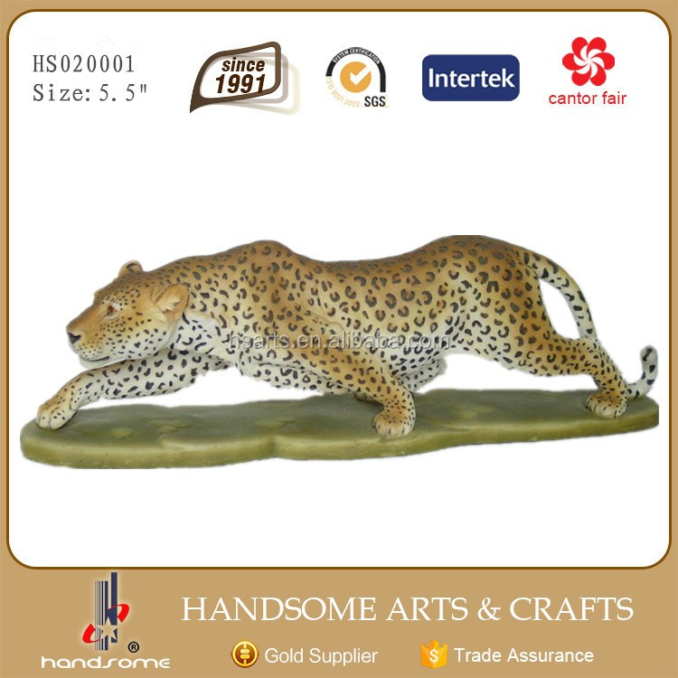 8.5*4*5.5 Inch Home and Garden Decor Resin Lively Animal Running Leopard Statue