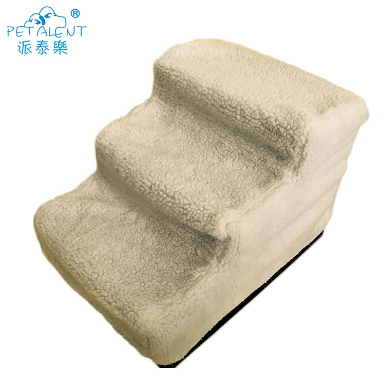 Detachable and washable 3 steps Dog stairs for pet beds