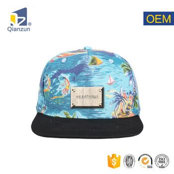 Metal Band Custom Hawaii Floral Printing Snapback Cap Hat - Buy ... b9cdaed5fd2