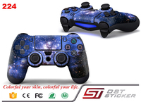 Blue Color Decals Skin Sticker For PS4 PlayStation + 2 Controllers Skin